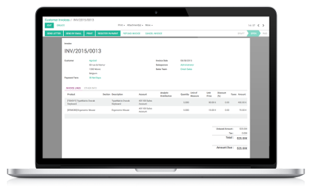 Built-in Invoicing and Accounting