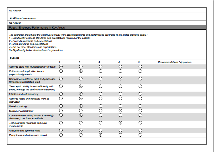 work evaluation form templates - pacq.co