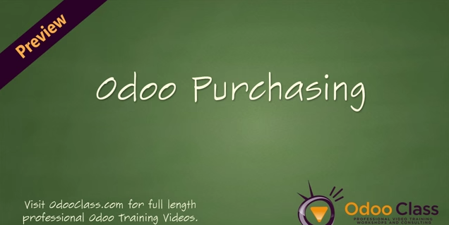 Odoo Purchasing - Learn to implement the Odoo Purchasing Application